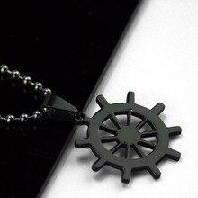 Mix Anime Charming Pendant Black Necklaces Titanium Steel Pendants Jewelry Rudder Free Chain Marvel Super Hero