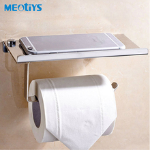 High Quality Stainless Steel Toilet Paper Holder Bathroom Accessories Toilet Roll Holder Phone Shelf Tissue Holder Wall Mounted