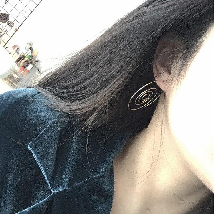 Wind punk nightclub female earrings circle rotating ear hanging ring multi-layer earrings a womans gift wholesale