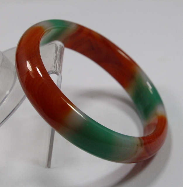 Free shipping 67MM VERY FINE RARE NATURAL GREEN RED JADEITE BRACELET BANGLE #A225