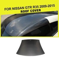 Car Styling Carbon Fiber Racing Roof Trim Cover A Pillars Antenna For Nissan GTR R35 2009 2015