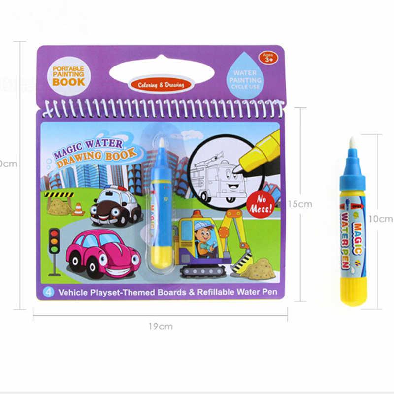 Baru Montessori Buku Mewarnai Doodle & Magic Pena Lukisan Menggambar Papan Sihir Air Menggambar Buku Hadiah Ulang Tahun untuk Mainan Anak-anak