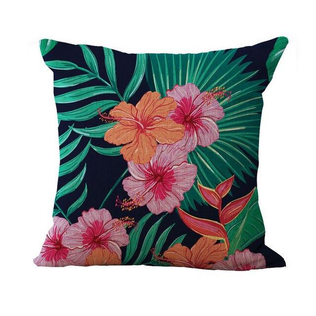 Tropische pflanzen flamingos schmetterling Dekorative Kissen/Kissen ...