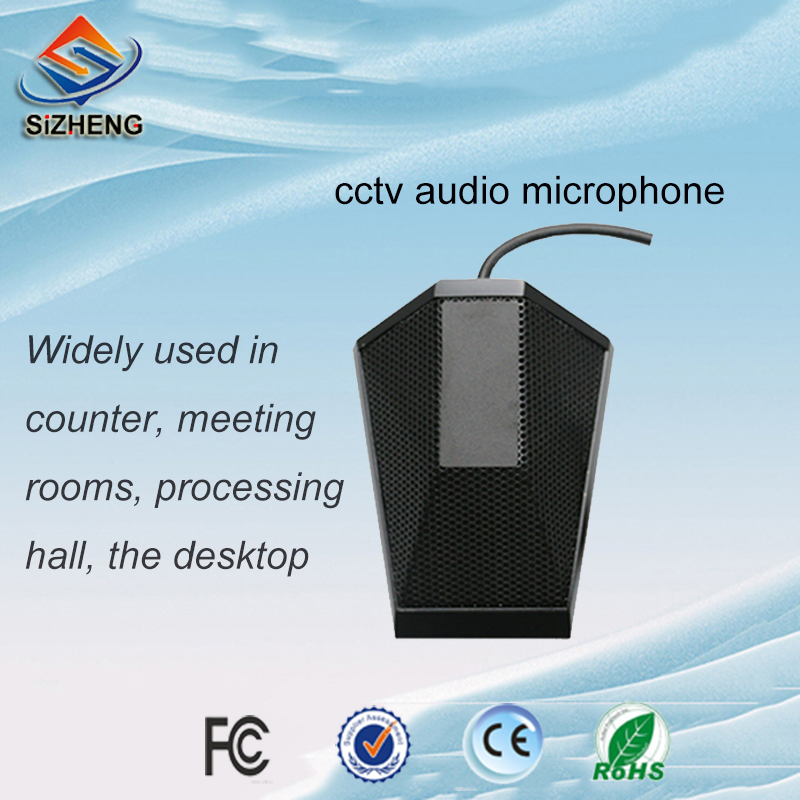 SIZHENG CCTV video surveilance microphone audio monitor desktop voice pickups security system for meeting room