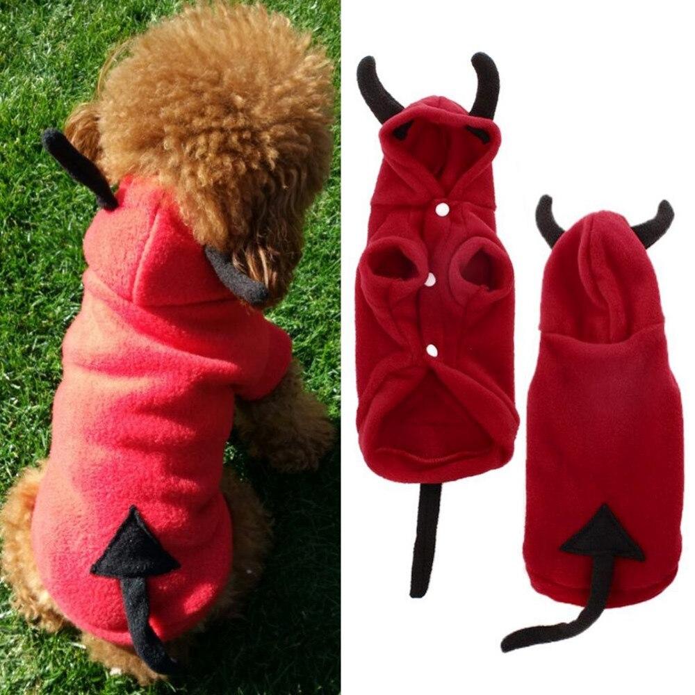 2016 Soft Fleece Dog Clothes Warm Pet Costume Winter Dogs Coat Autumn Hoody Two Legs Jum ...