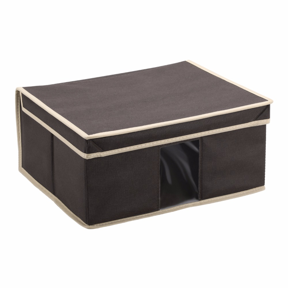 Finether Brand 3pcs A Set Color Optional Folding Fabric Storage Box  Organizer Case With Lid And See Through Window For Home Use In Underwear  From Mother ...