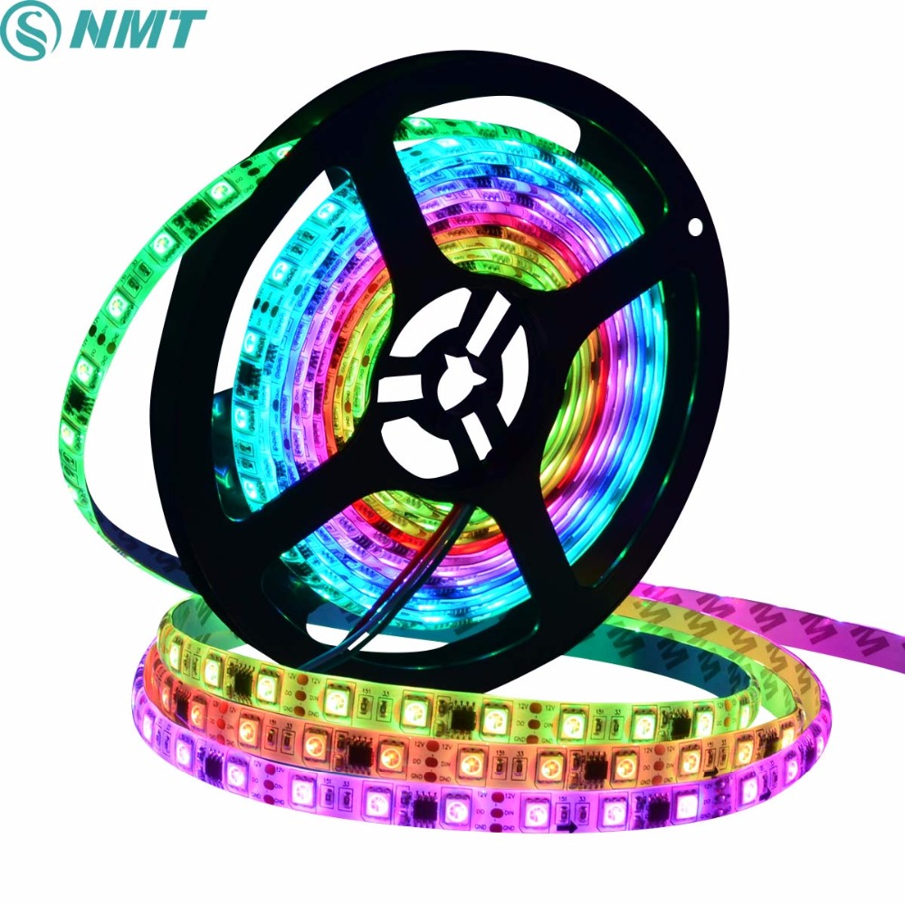 5m DC12V Led Strip SMD5050 WS2811 Pixel Led Strip Light Waterproof/ Non-waterproof 30LED/60LED for Indoor Outdoor Lighting