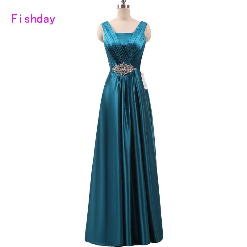 e7df5585207 2017 Aqua Mujeres de Talla grande Formal Abendkleider vestidos de Noche  Largo Azul Real vestido de