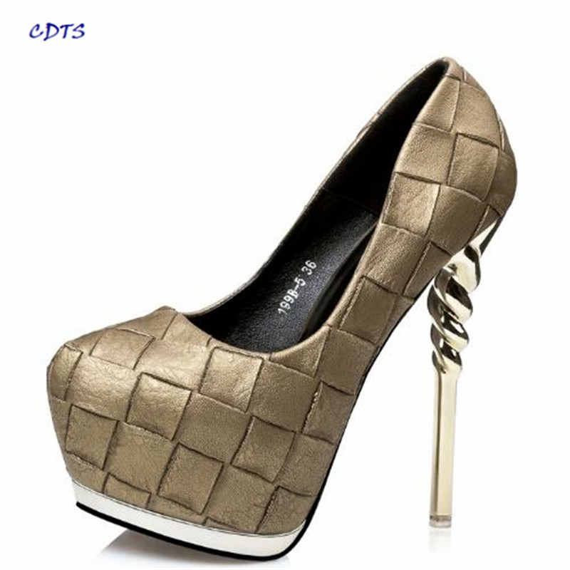 CDTS Stilettos Spring/Autumn zapatos mujer Ladies Crossdresser platforms 14cm thin high heels sexy pumps woman wedding shoes manufacturer livolo ac 110 250v the base of wall light touch screen remote switch 3gang 2way vl c503sr