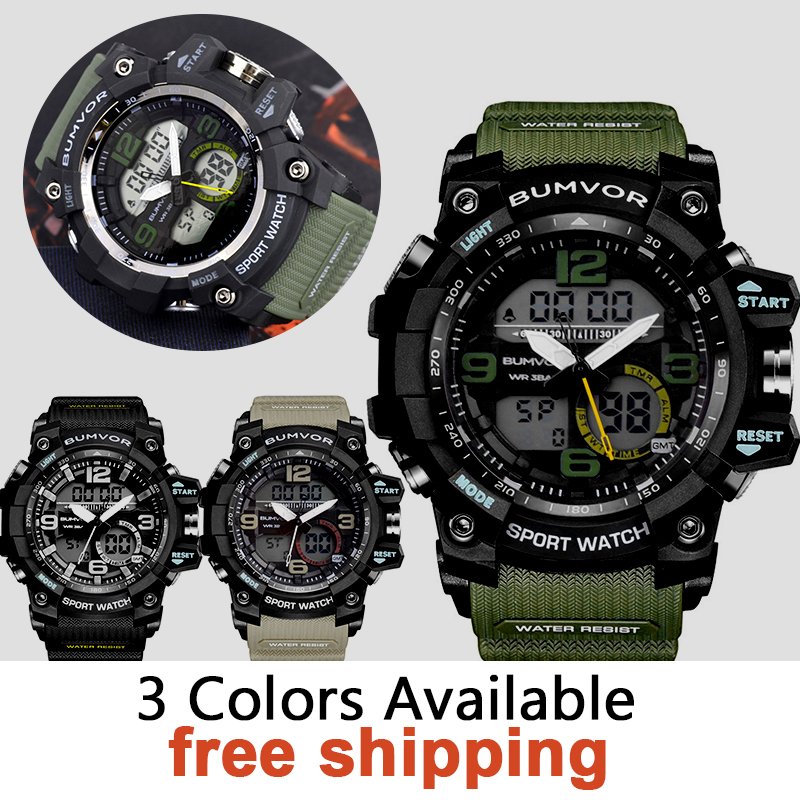 Luxury Brand Watches Men Sports Watches Waterproof LED Digital Quartz Men Military Wrist Watch Clock Male 2018 weide new men quartz casual watch army military sports watch waterproof back light men watches alarm clock multiple time zone
