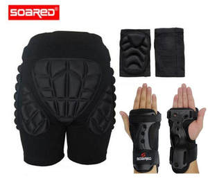 SOARED Outdoor Sports Protective Hip Pad Knee Pads Wrist Support Roller Skating Snowboard Skiing Impact Extreme Sport Protectio