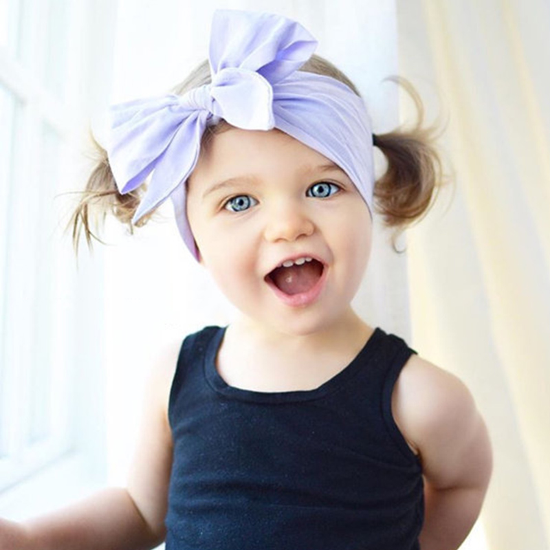 Hot Sale 19 Colors Baby Girl Headband Big BowKont Cute headwrap Children Kids DIY Hair Band Hair Accessories cute hot sale stripe design pantyhose for girl