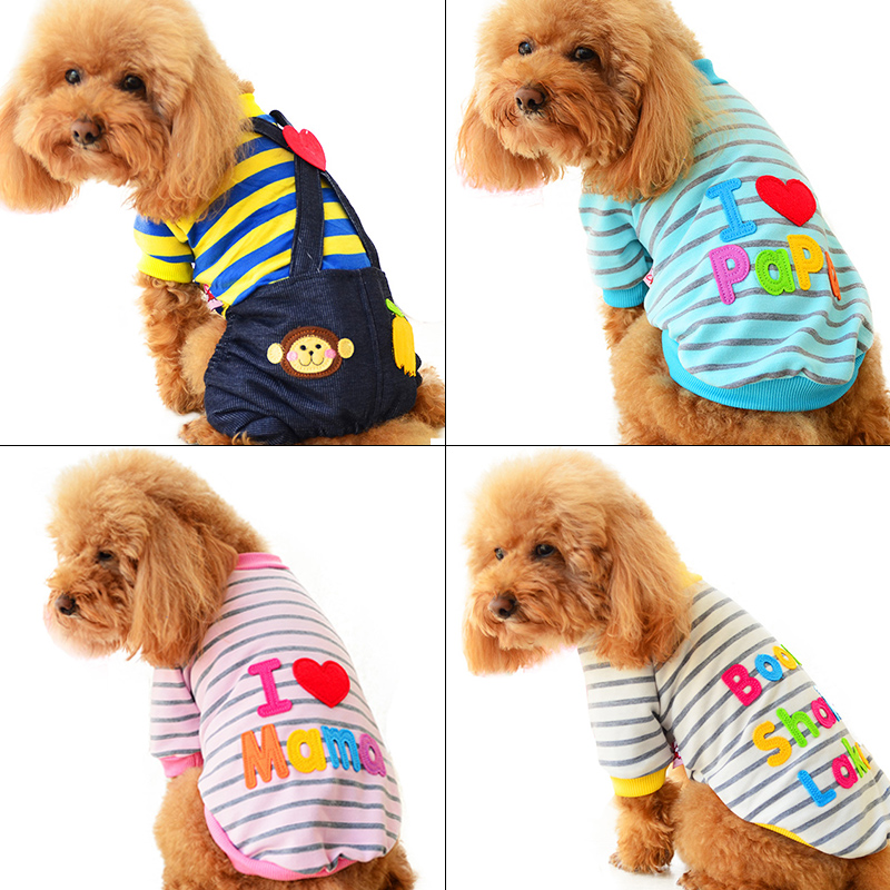 2018 Petcircle Fashion I love papa and mama winter Pet Dog Clothes Clothing For Pet Small Large Dog Coat Winter Clothes Jackets