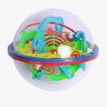 Educational Toys 3D Magic Intellect Maze Ball Marble Puzzle Game Perplexus Magnetic Balls