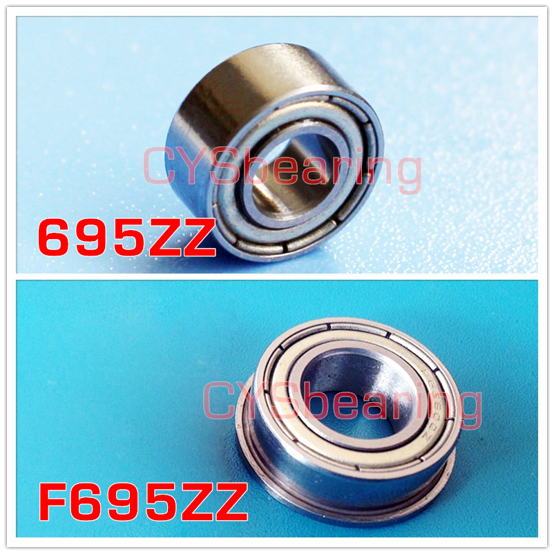 10pcs Miniature Bearing 695ZZ 695-Z Precise Durable Bearing 5x13x4 mm RS