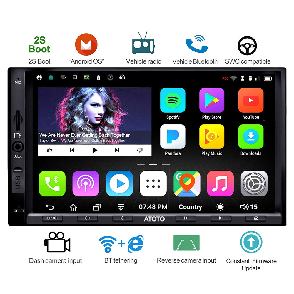 [NEW]ATOTO A6 Double din Android Car GPS Navigation Stereo Player/Dual Bluetooth/A6Y2710SB 1G/16G Entertainment Multimedia Radio image