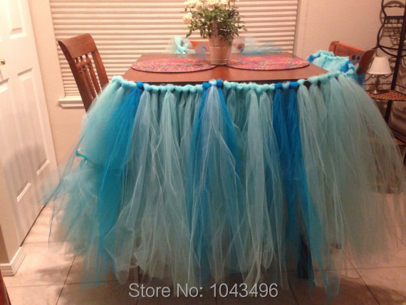 Completely Custom Hotel DIY Polyester Tulle TUTu Art Household Table Skirts Party Wedding Colorful
