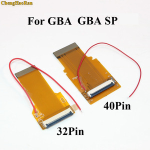Image 4 - ChengHaoRan 2 pièces 32P 40 P pour GameBoy Advance GBA câble ruban 32pin 40 broches AGS 101 rétro éclairé adaptateur écran Mod avec câble