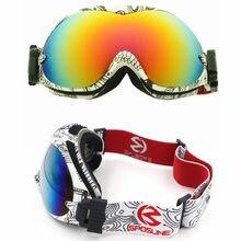 Podwójne soczewki gogle narciarskie mężczyźni kobiety snowboard gogle skibril gogle narciarskie narciarstwo gogle occhiali sci szkło śnieg gogle narciarskie