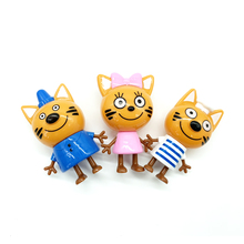 5 pcs Three Little Kittens Happy Cats Toy Russian Cartoon Action Figure Cute Anime Mini Plastic Dolls Gifts Toys for Children