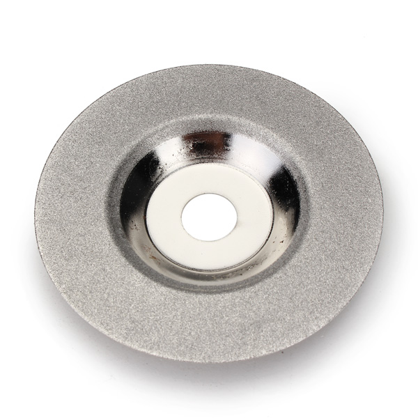 100mm X 16mm Silver Diamond Grinding Wheel Polishing Disc Pads Grinder Cup Angle Grinder Rotary Tool Grind Stone Glass