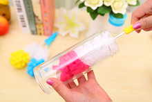 Simple Long Handle Kitchen Cleaning Tool Sponge Wash Cup Brush, Bottle Cleaning Brush Free shipping