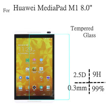цена на Tempered Glass HD For S8-301W MediaPad M1 Screen Protectors For Huawei Mediapad M1 8.0 inch Tablet Tempered Screen Guard Film 9H