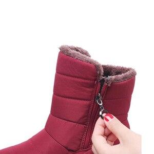 Image 3 - TIMETANG 2019 yeni kaymaz su geçirmez kışlık botlar artı pamuk kadife kadın ayakkabı sıcak ışık büyük boy 41 42 kar bootsE1872