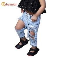 Babyinstarแฟชั่นGirls Holeกางเกงยีนส์ฤดูร้อนแจ๊ก