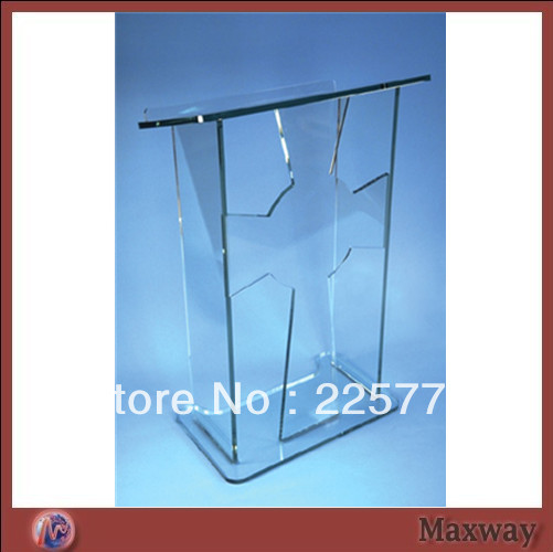 Transparent Acrylic Podium PMMA Mdais Acrylic School Lectern Church Rostrum