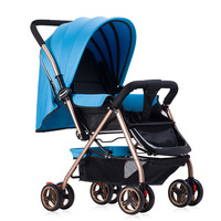 4 wheel lightweight large space baby stroller high quality two way folding strollers for new born baby front universal wheel