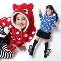Frete grátis inverno/outono infantil clothing menina camisola ocasional além de veludo espessamento casuais jaqueta com zíper