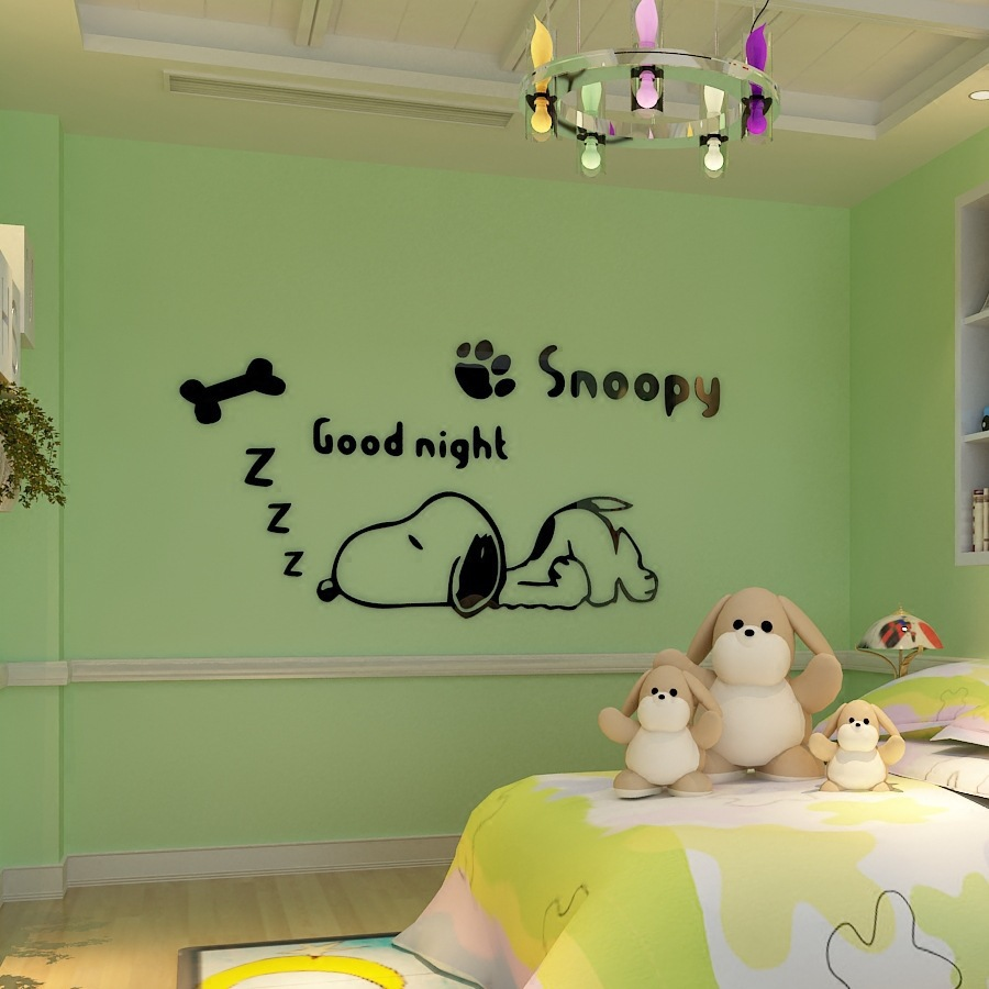 Wall Decal Giant Panda 3D DIY Kids Room School Wall Stickers Acrylic Pmma Mural