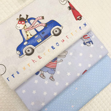 1.6m width Cartoon Crocodile Cotton Fabric for Childrens Student Bed Goods Covered with Sheet