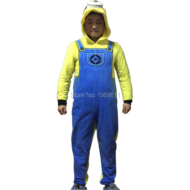 Despicable Me Minions Pyjamas 3D One eye Onesie Animal Onesies Costume Hoodie Pajamas Sleepwear Unisex