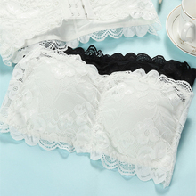 Bras sexy lace bras prevent bra padding from wrapping Strapless woman breathable breast wrap S110