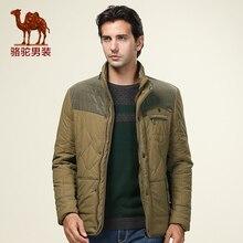 Camel мужские куртки хлопка-проложенный парки мужской хлопок американский пальто куртки D4Z165251