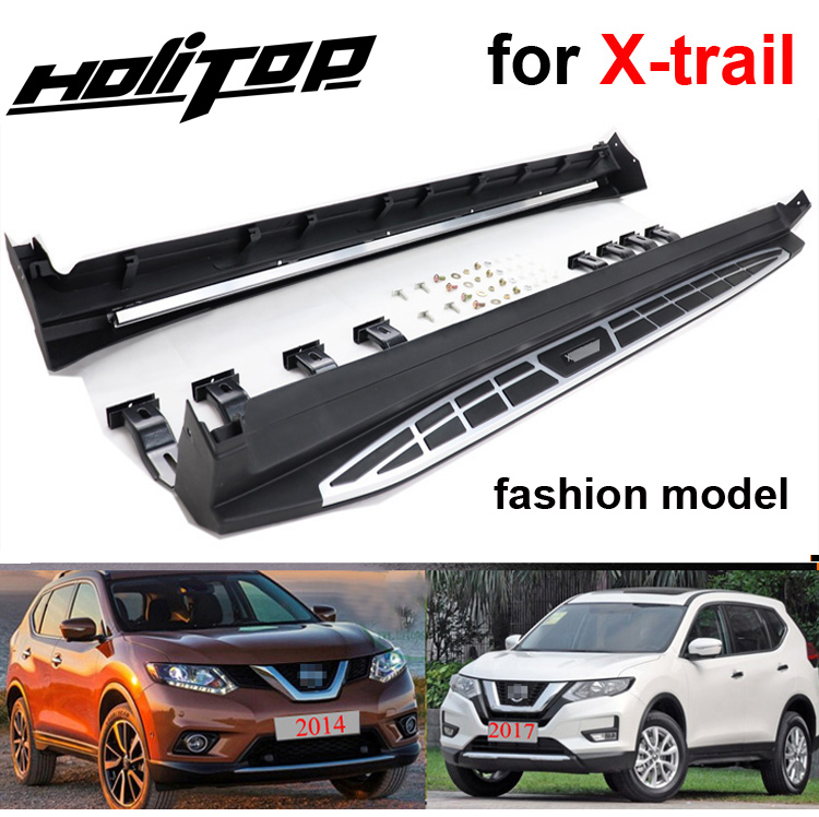 Running board side step foot pedal board for Nissan Rogue X trail 2014 2015 2016 2017