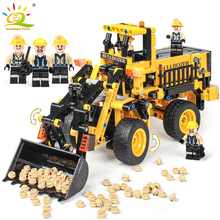 688pcs City Engineering Technic Bulldozer Truck Building Blocks Compatible Legoings Technic Enlighten Bricks Toys For Children