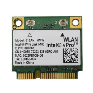 Image 2 - ワイヤレスカード 512AN_HMW インテル WiFi リンク 5100 ミニ PCI E カード無線 Lan アダプタノートパソコンのネットワーク 2.4 グラム/5 2.4ghz dell