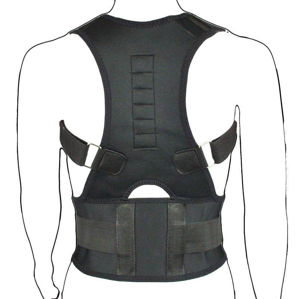 Sitzhaltung Corrector Einstellbare Magnetische Form Körper Schulterstütze Gürtel Männer Halswirbel Richtige Therapie Für Kultur Kits H7JP