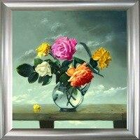 Бесплатная доставка домашнего декора ручной работы живописи цветок картины абстрактная живопись маслом Art quadros де Parede сала ЭСТАР