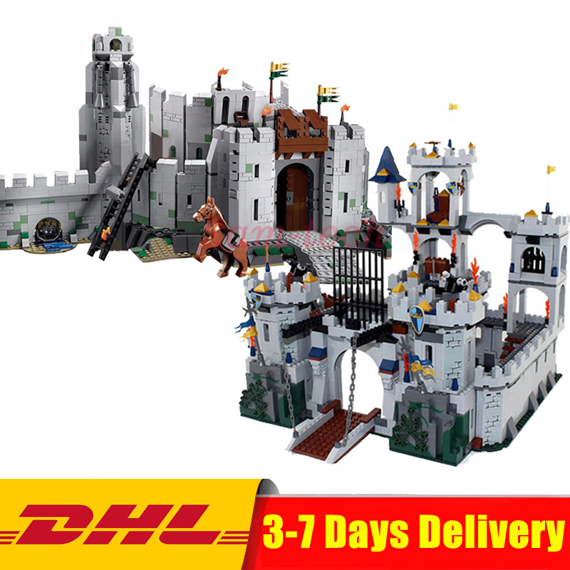 2018 DHL Lepin 16013 The Lord of the Rings+16017 The King\'s Castle Siege Building Blocks Bricks Toys Clone 9474 7094 classic movie series king castle siege review building block mini ghost archer figures dark fiery dragon lepine bricks 7094 toys