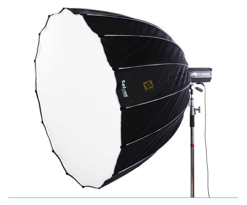 Selens 120cm Hexadecagon Deep Umbrella Softbox for Strobist Lighting Modifier Bowen Balcar Elinchrom Hensel Profoto Studio