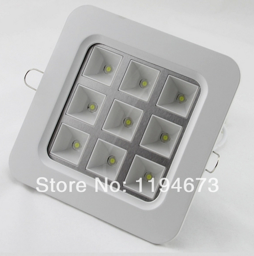 Бесплатная доставка Высокое качество квадратный 4 Вт/9 Вт/16 Вт/25 Вт сетки Алюминий встраиваемые светодиодные лампы решетка для кухни и ванно...