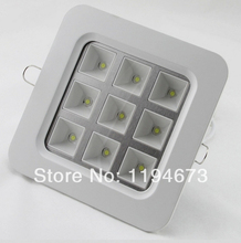 Freeshipping High Quality Square 4W/9W/16W/25W Grid Aluminum Recessed LED Grille Lamp for kitchen bathroom Down lights AC85-265V все цены