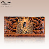 Brand Womens Wallets And Purses Female Long European And American Style Genuine Leather Wallet Coin Purse