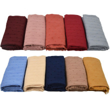 Very Nice Popular Plain Cotton Fringed Scarf Muslim Hijab Unedge Fashion Women Soft Warm Shawl Headwear Shawls Scarves 10PCS/Lot