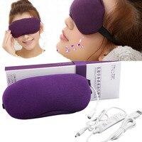 USB Ogrzewanie Eyeshade Lawendy Releive Kompres Eyeshade Snu Maska Oczu Cienie Usuwania Kobiety Mężczyźni Zasłanianie Oczu Śpiąca Aid