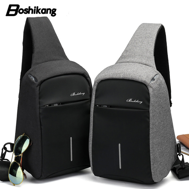 Boshikang New Men Crossbody Bag Travel Fashion Oxford Hot Summer Chest Male Sling Daily